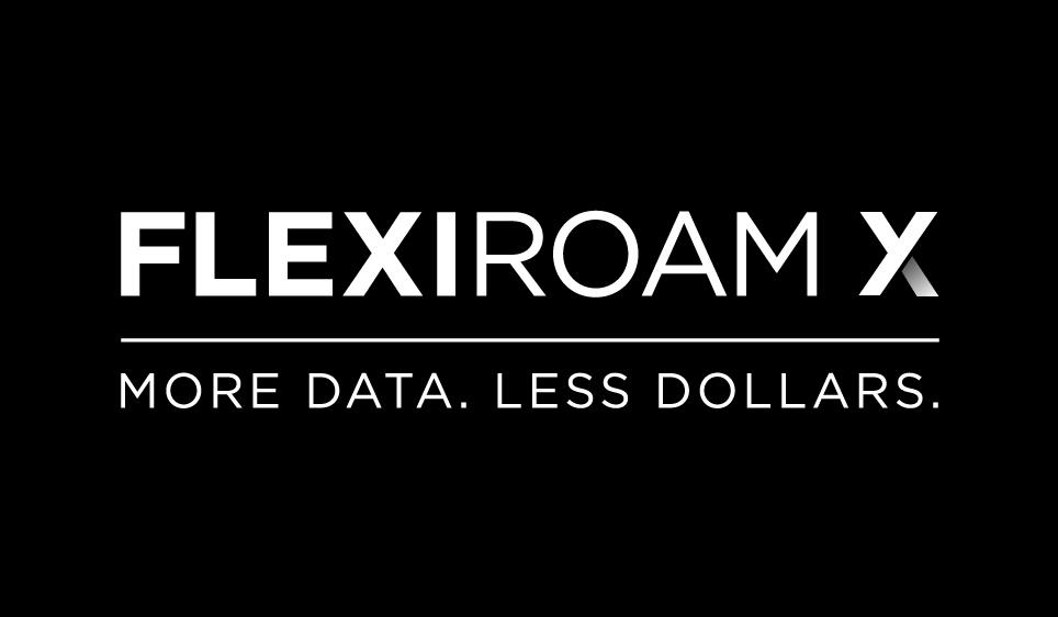 Flexiroam X Logo - Black Background