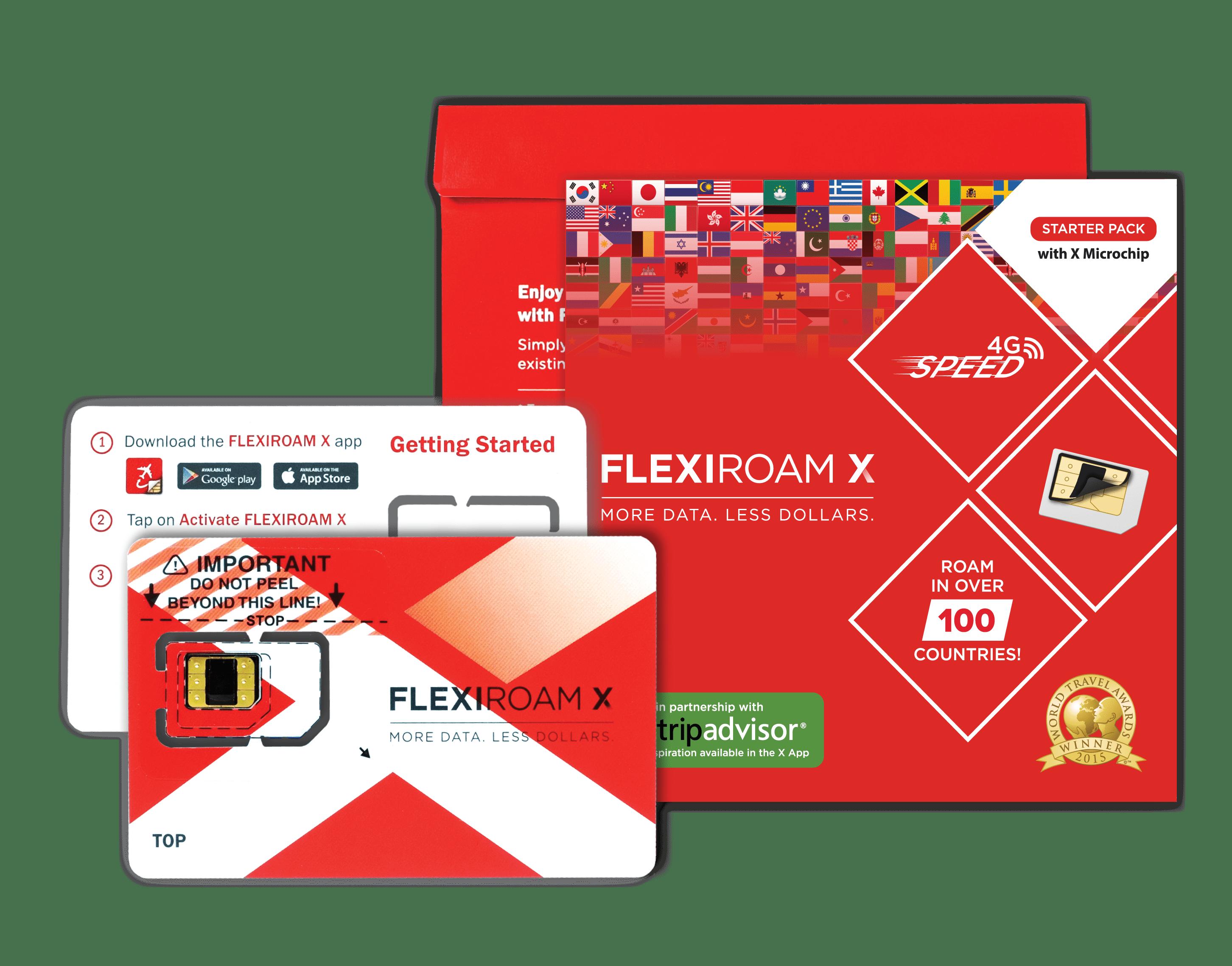 Flexiroam X - Starter Pack with Microchip