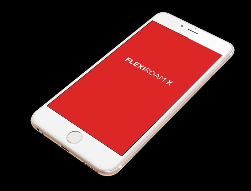 Phone with Flexiroam Splash Screen