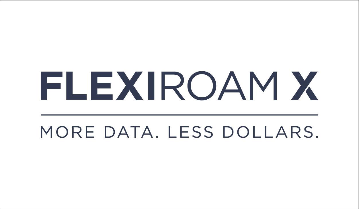 Flexiroam X Logo - Navy on White Background