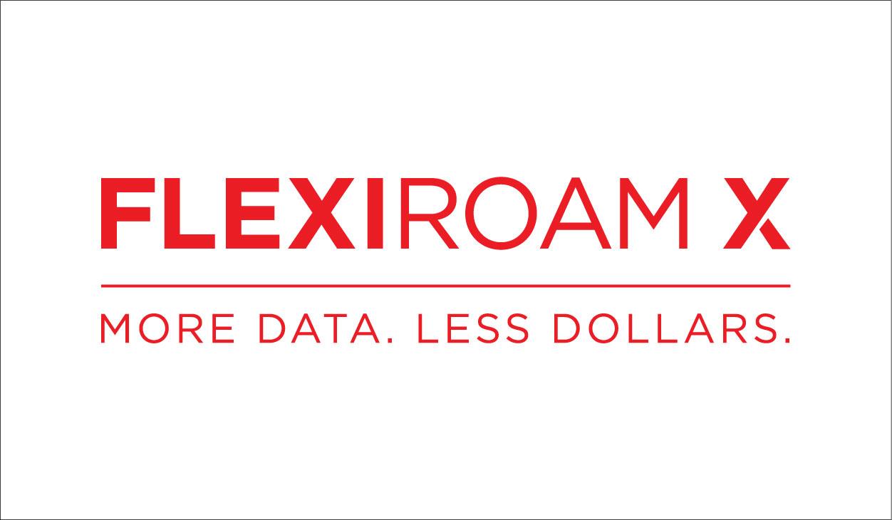 Flexiroam X Logo - Red on White Background